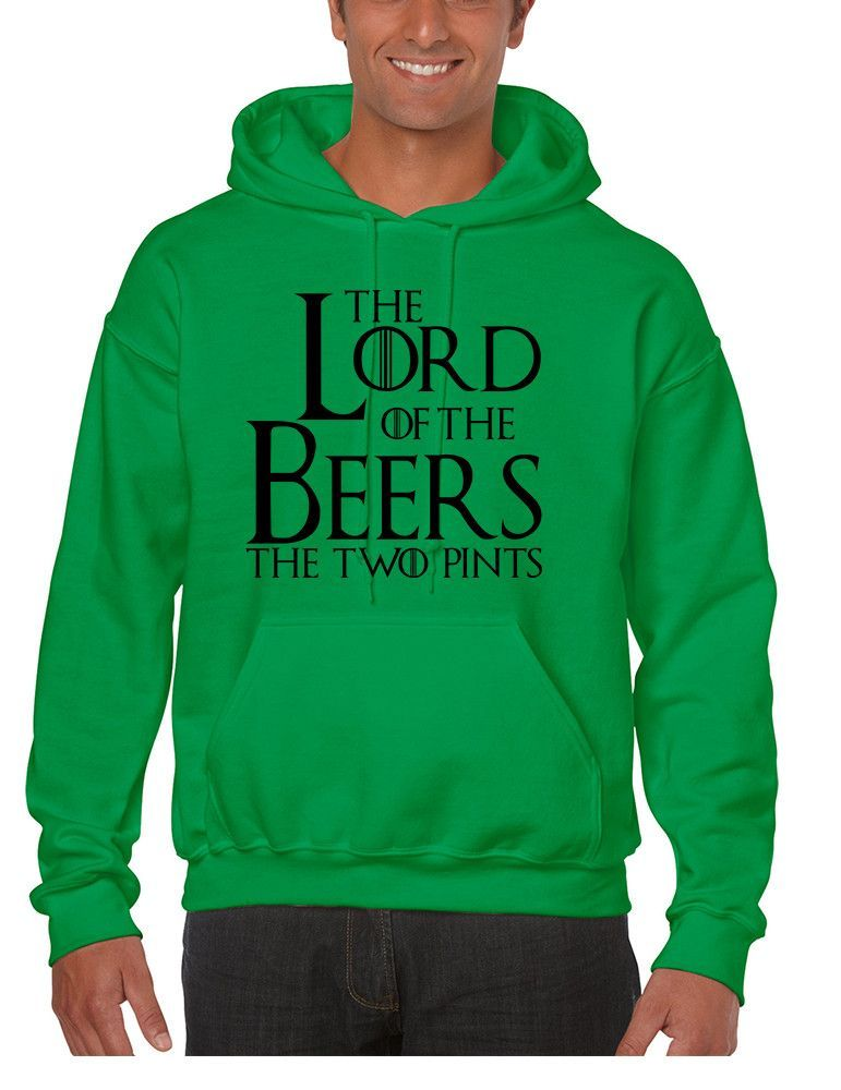 Men's Hoodie The Lord Of The Beers Two Pints Popular Fun