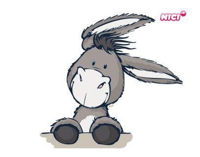 Wandtattoo Nici Donkey stürmisch   Niedliche ...