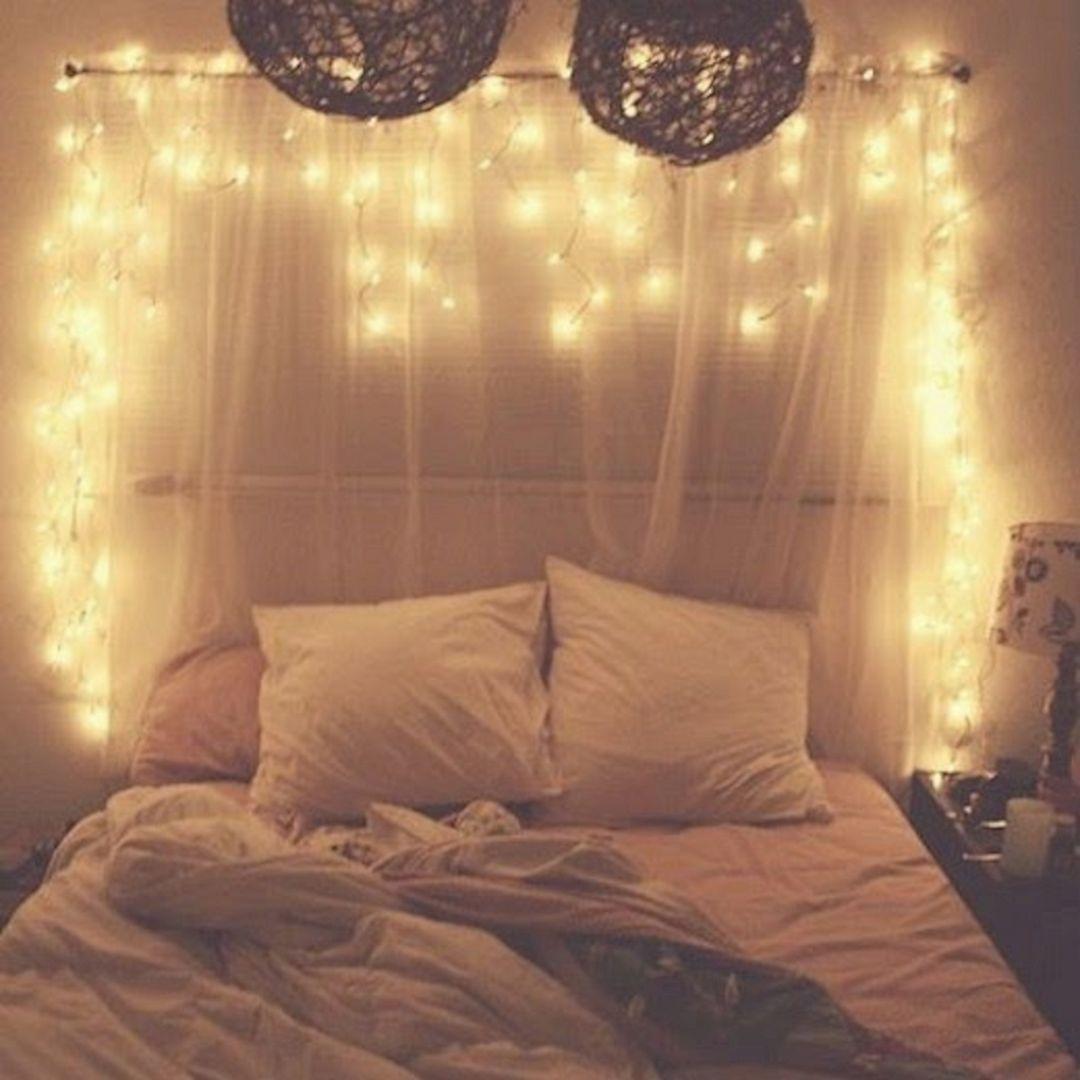bedroom christmas tree lights