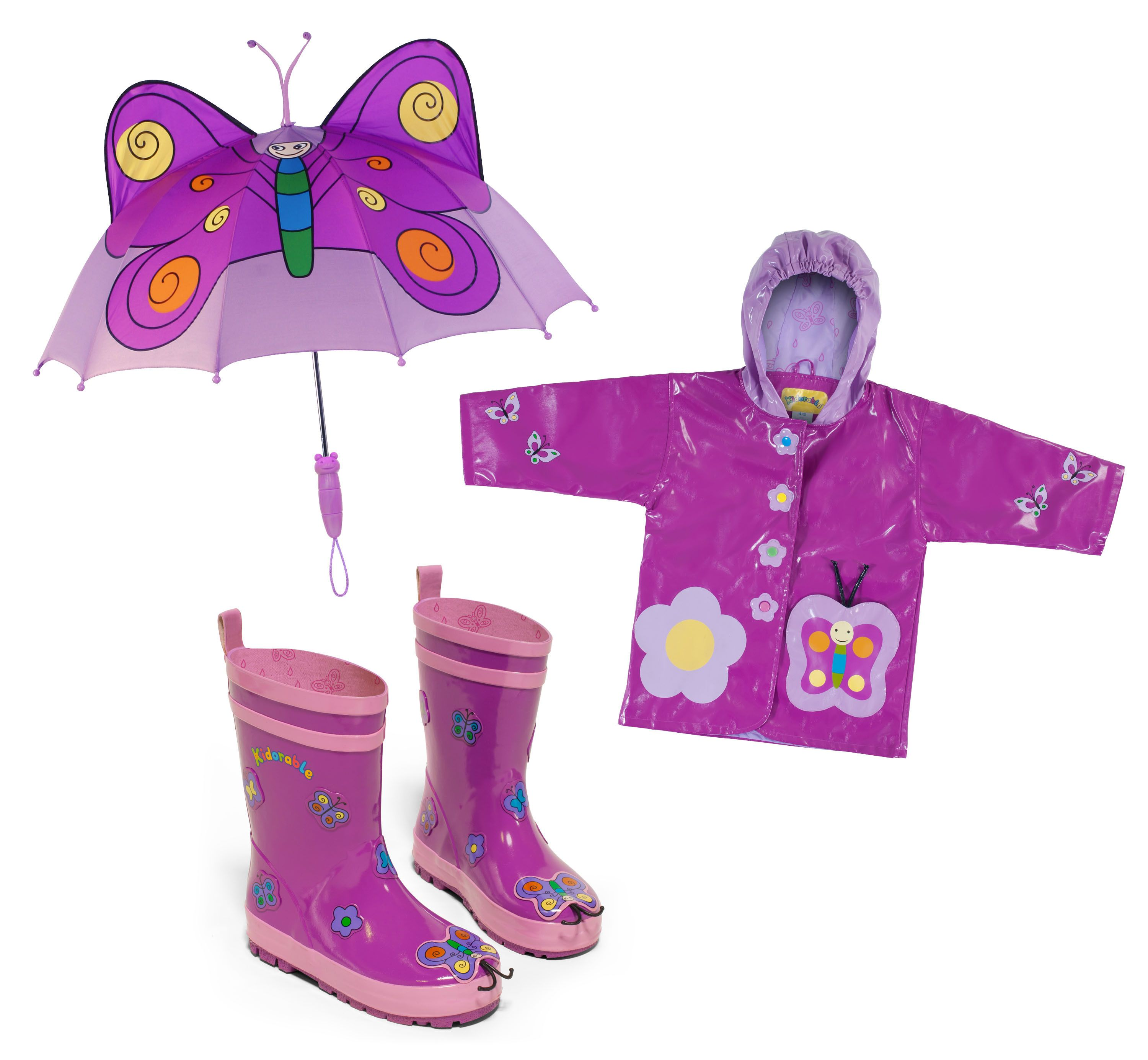 Cute Butterfly childrens raincoat with