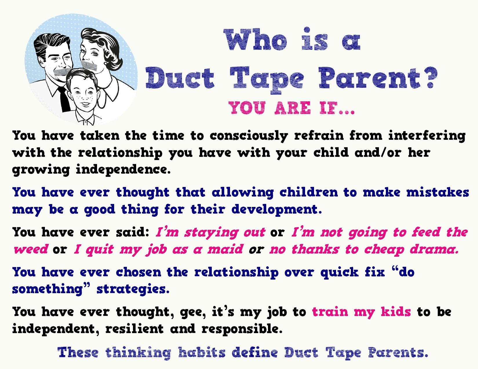 Are YOU A Duct Tape Parent?