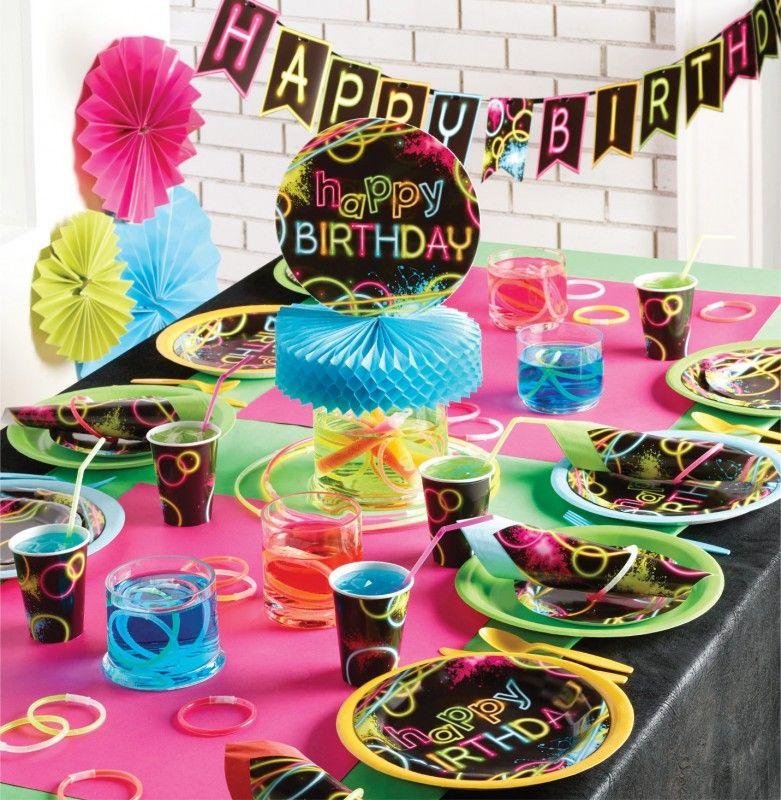 xxl knicklicht neon raver party deko set f r 16 personen mottoparty deko pinterest party. Black Bedroom Furniture Sets. Home Design Ideas