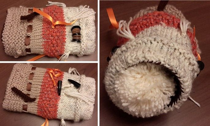Knitted Twiddlemuff For Dementia Patients [FREE Knitting Pattern]