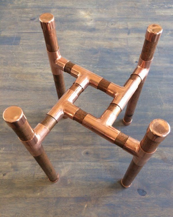 Copper Pipe Plant Stand is part of Copper diy, Copper pipe, Plant stand, Pipe furniture, Diy plant stand, Copper - Build and customize a fabulous copper pipe plant stand in no time with a single length of pipe and simple fittings  Just measure, cut, and connect!