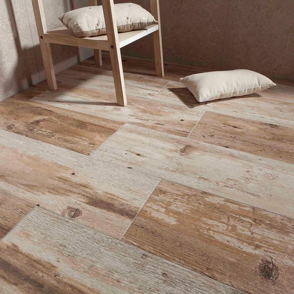 merola tile castle cocoa 7-7/8 in. x 23-5/8 in. ceramic floor and