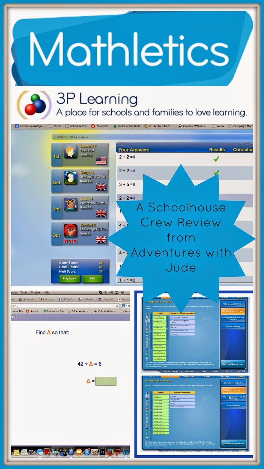 3P Learning: Mathletics (A Schoolhouse Crew Review) #math #online ...
