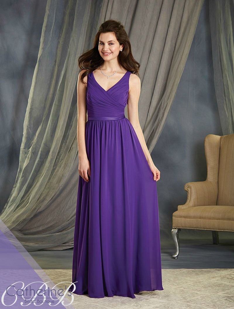 Alfred angelo style 7363l bridesmaid dresses pinterest a full length a line style long bridesmaid dress with a v shaped neckline and satin waistband accent at the natural waistline ombrellifo Image collections