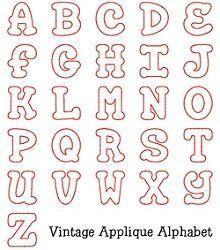 Aplique Alfabeto  Letras    Applique Letters Letter