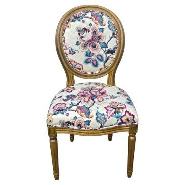 Check out this item at One Kings Lane! French-Style Floral Side Chair