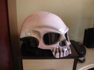 Airbrushed Skull Motorcycle Helmet