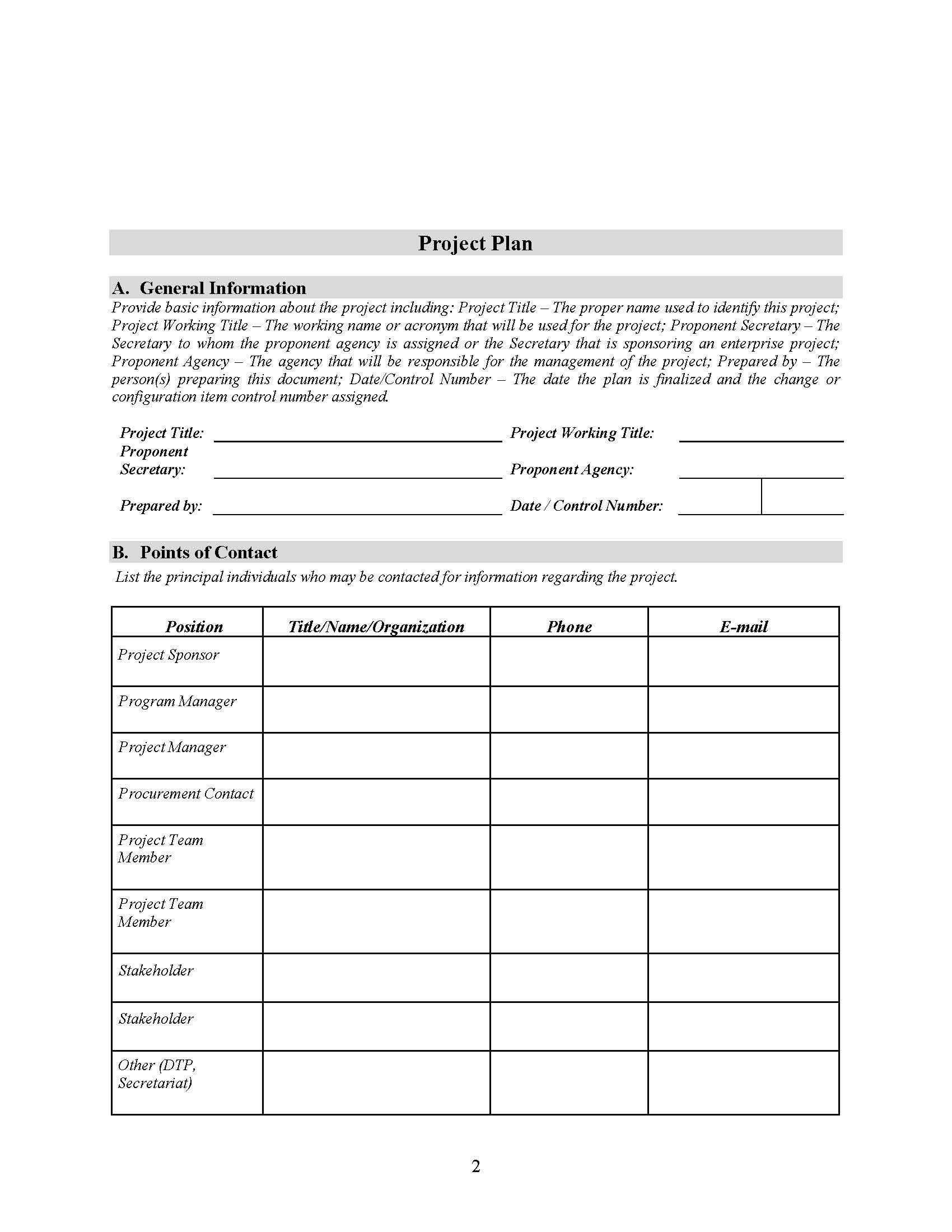 Free Project Plan Template In Word In 2021 Budget Template Budgeting Lesson Plans For Toddlers Free project plan template word