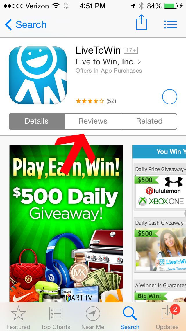 How to review the Live to Win App on an Android_3 (With