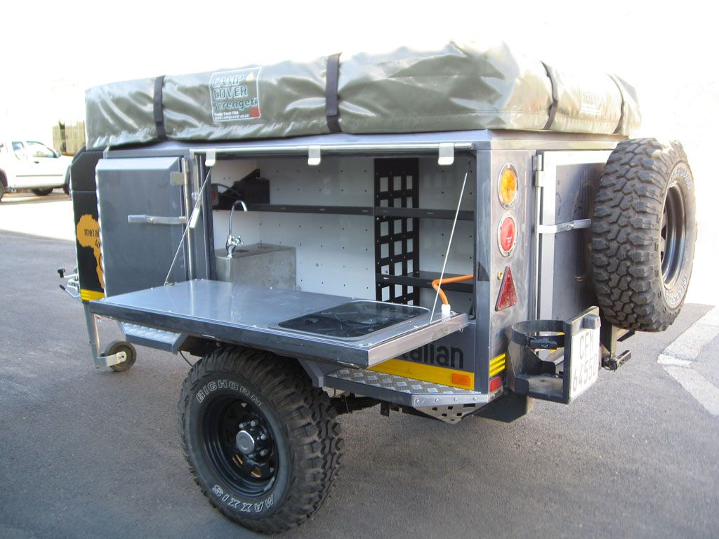 The Metalian Maxi 4x4 Off Road Camping Trailer View Picture Gallery Technical Information Other Models And Contact Us For Pricing Here