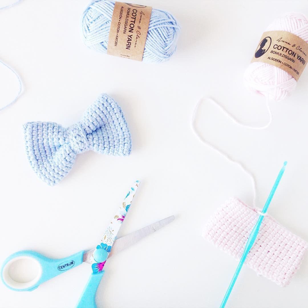 Crochet bow. By @h_for_helene  #miniyarn #crafts #diy #grenediy
