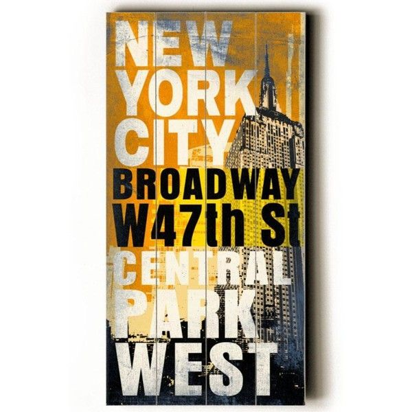 New York City Transit Sign Wall Plaque ($59) ❤ liked on Polyvore ...