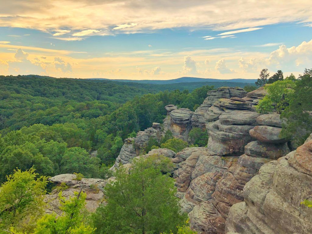 Garden of the Gods in Southern Illinois Shawnee national