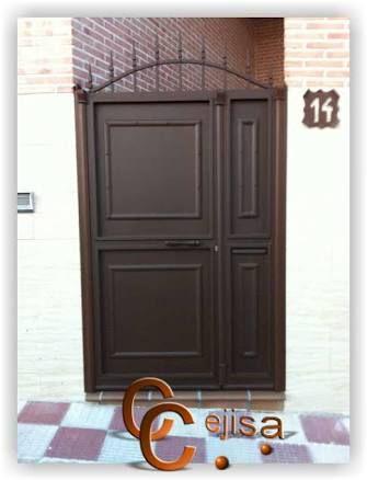 Resultado de imagen para modelo de puerta de hierro sencilla