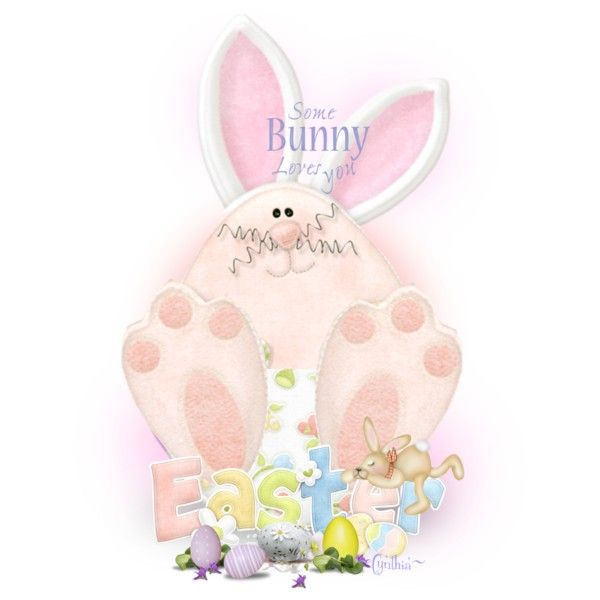 ~Some Bunny Loves You~ by cindu12 on Polyvore featuring arte and 50