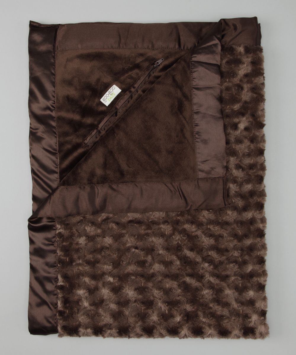 Goo-Goo Baby Crazy for Cocoa Plush Pocket Crib & Stroller Blanket