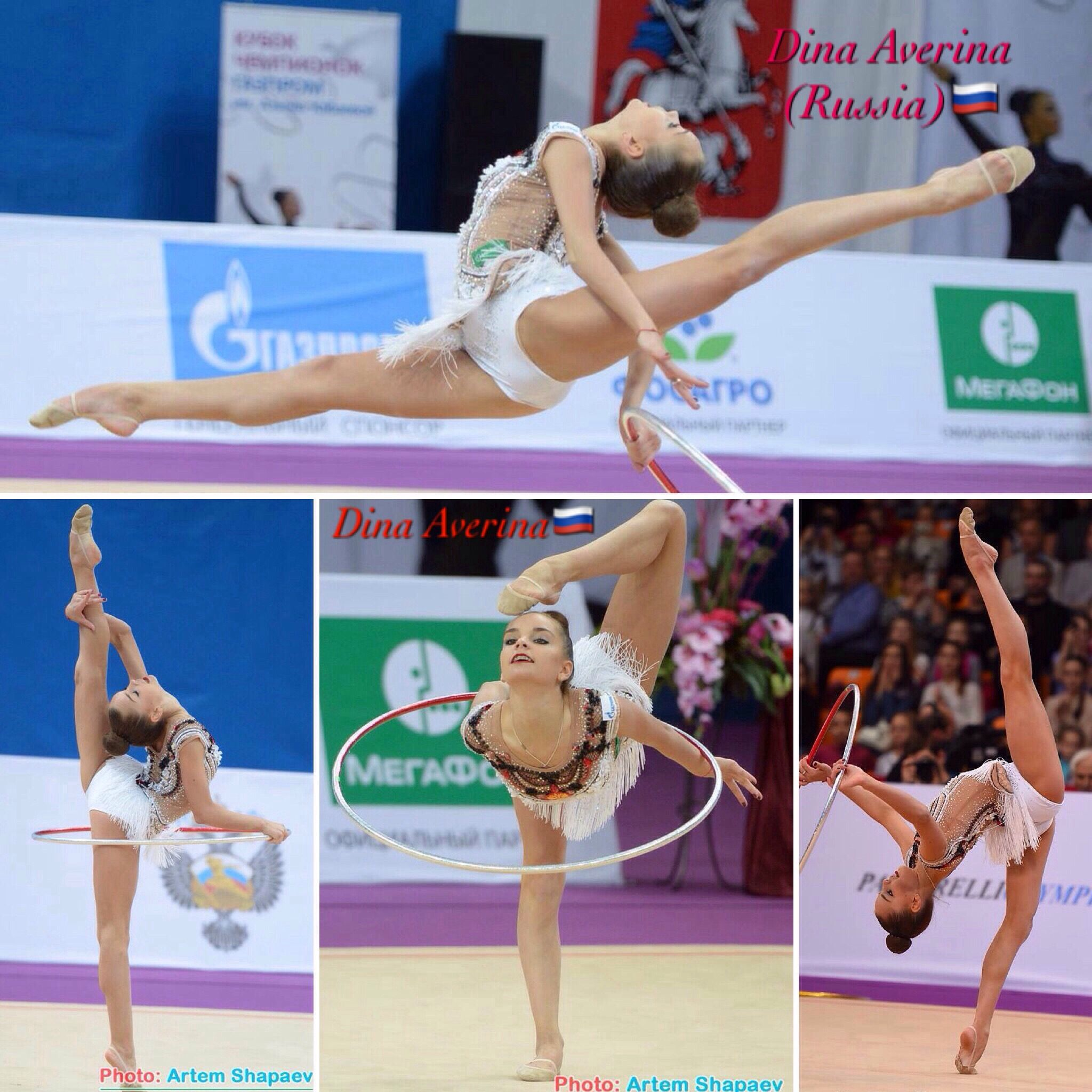 Dina AVERINA (Russia) ~ Collage Hoop routine @ GP Moscow 2017  Photographer Marianne  Piqurel  & Artem Sharpaev.