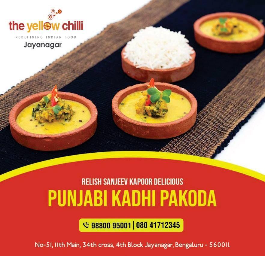 Relish Sanjeev Kapoor Delicious Punjabi Kadhi Pakoda Theyellowchilli Punjabi Pakoda Veg Starters Bangalore Jayanagar Res Indian Veg Starters Veg Food