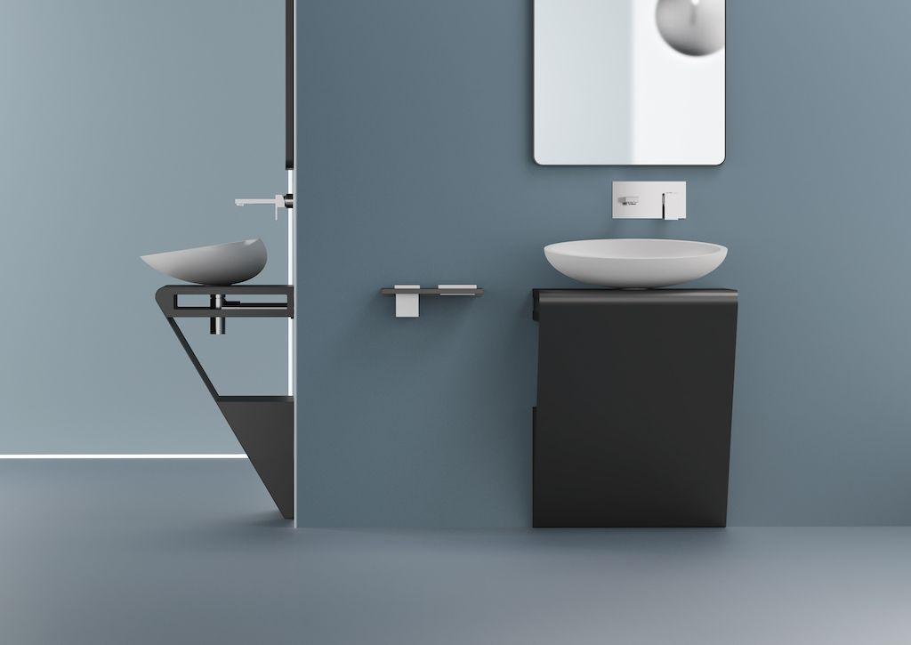 Meuble Salle De Bain En Inox Zero De Glass Design Meuble Lavabo Lavabo Design Lavabo A Poser