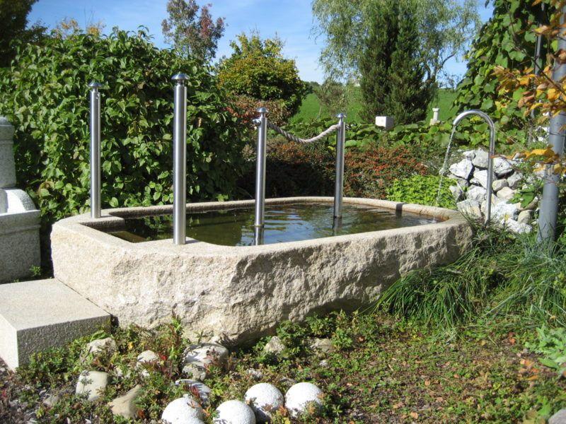 Kneippbecken Brunnencenter Allgau In 2020 Steinbrunnen Granit Handlauf