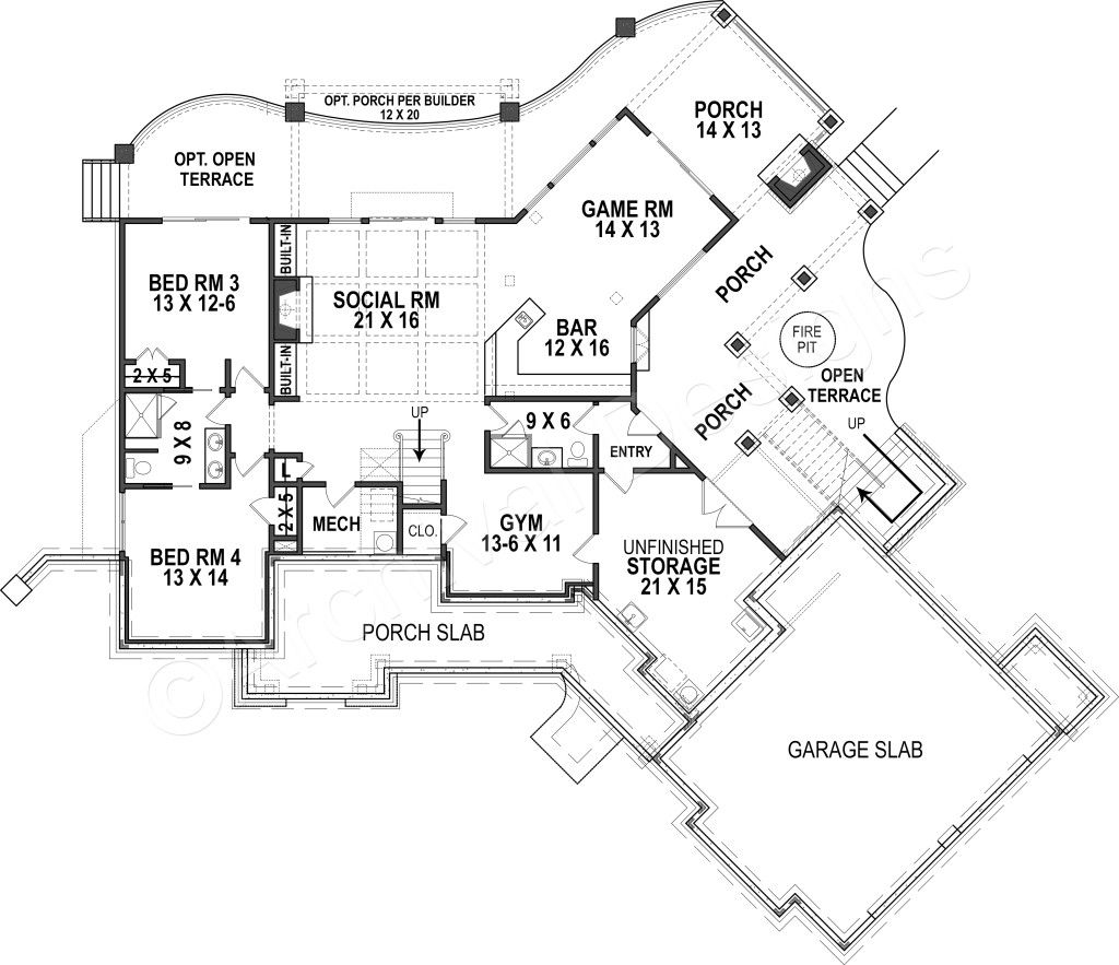 Harmony Ranch House Plan Lakefront Floor House Plan Harmony Ranch House Plan Basement Floor P Cottage House Plans Ranch House Plan Mountain House Plans