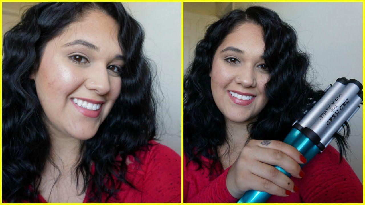 Bed head deep waver tutorial on medium length hair hair
