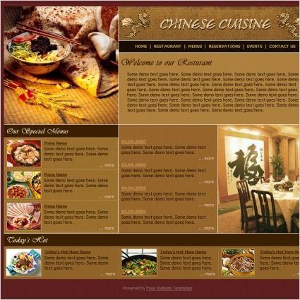 84 templates WordPress per blog di cucina e ricette (3a parte). chinese_cuisine_template