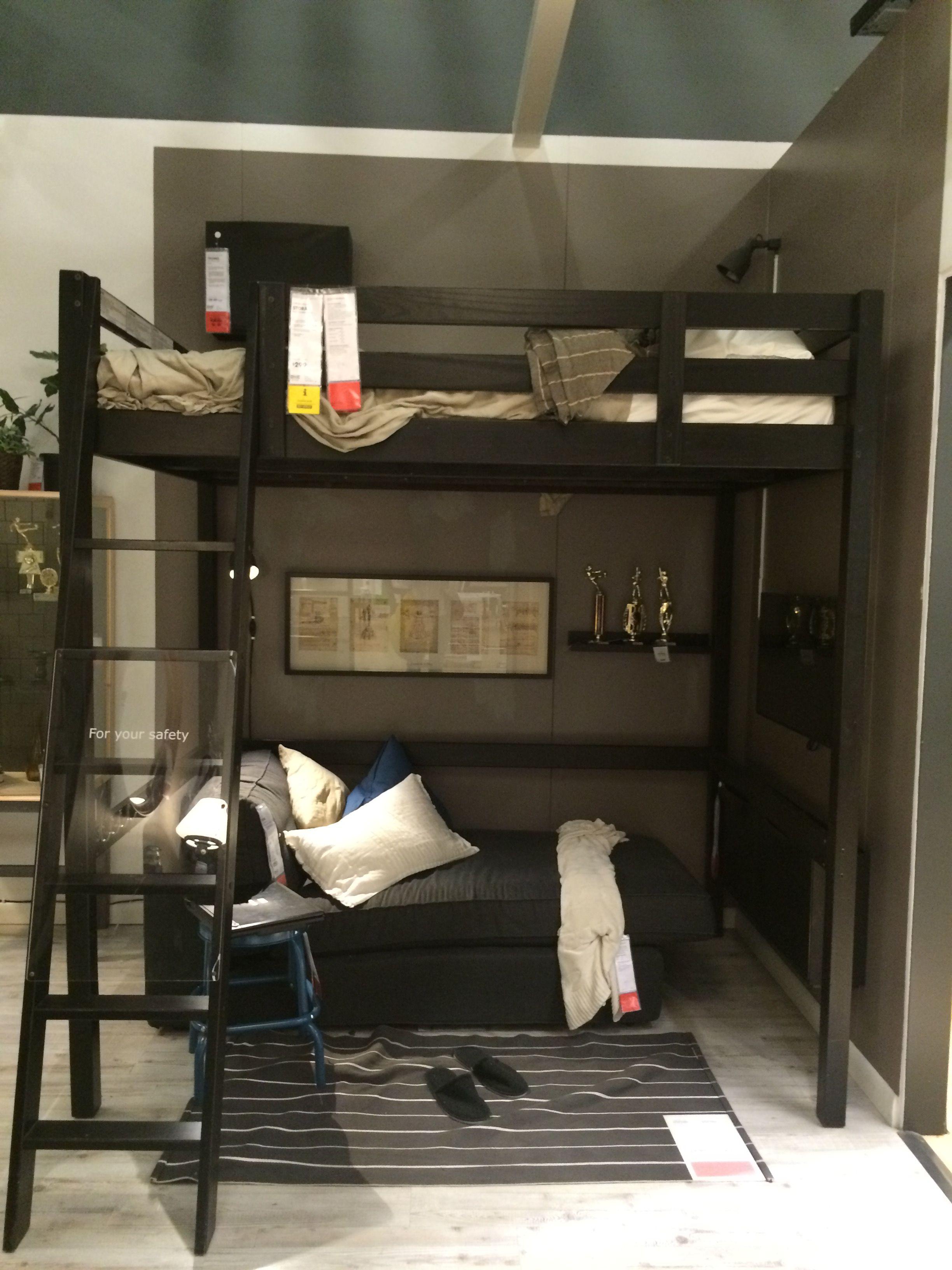 Cama en alto ikea bedrooms en 2019 tv beds bed y bunk - Camas de ikea ...