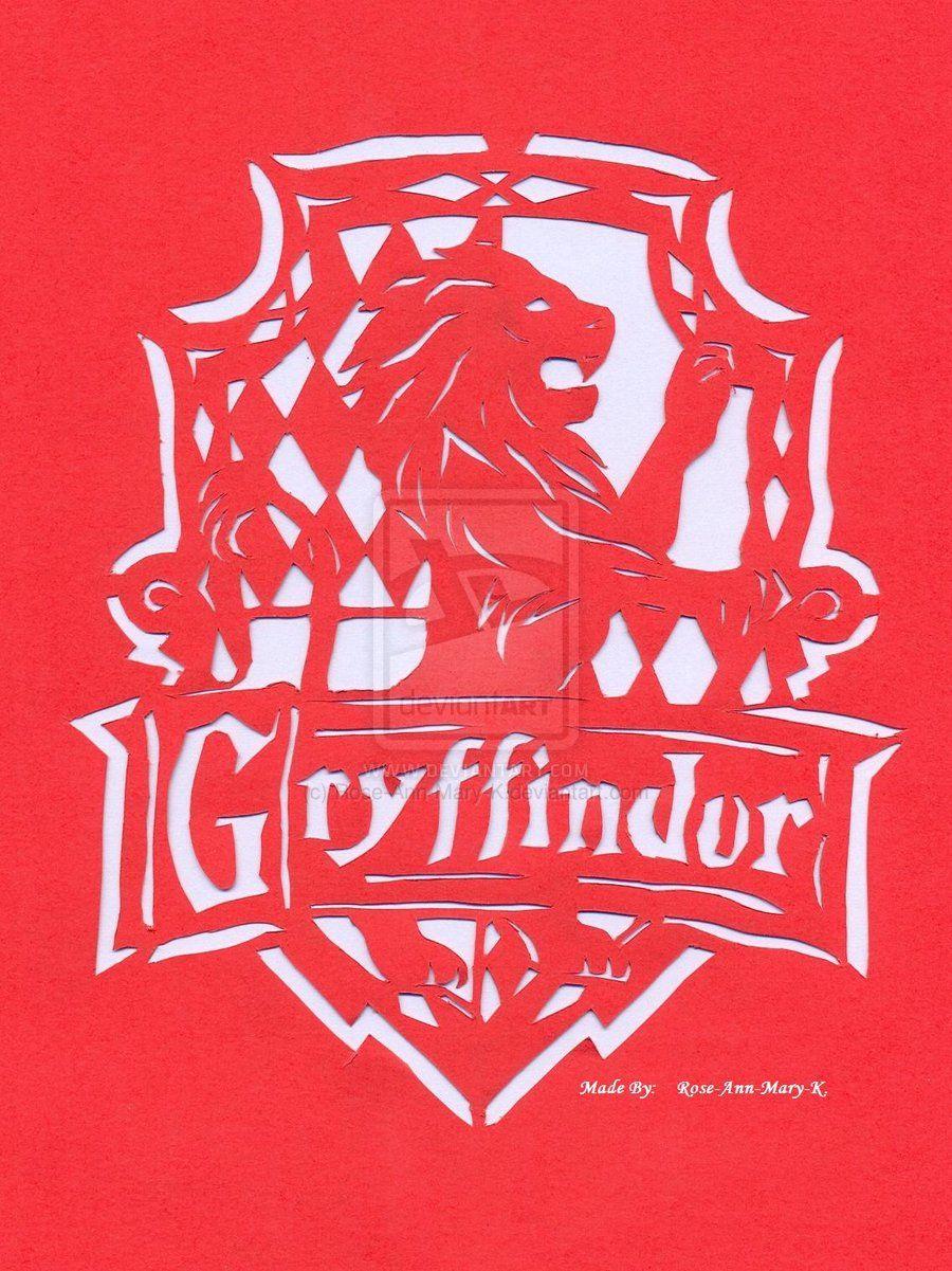 Gryffindor Papercutting by Rose-Ann-Mary-K.deviantart.com on @deviantART