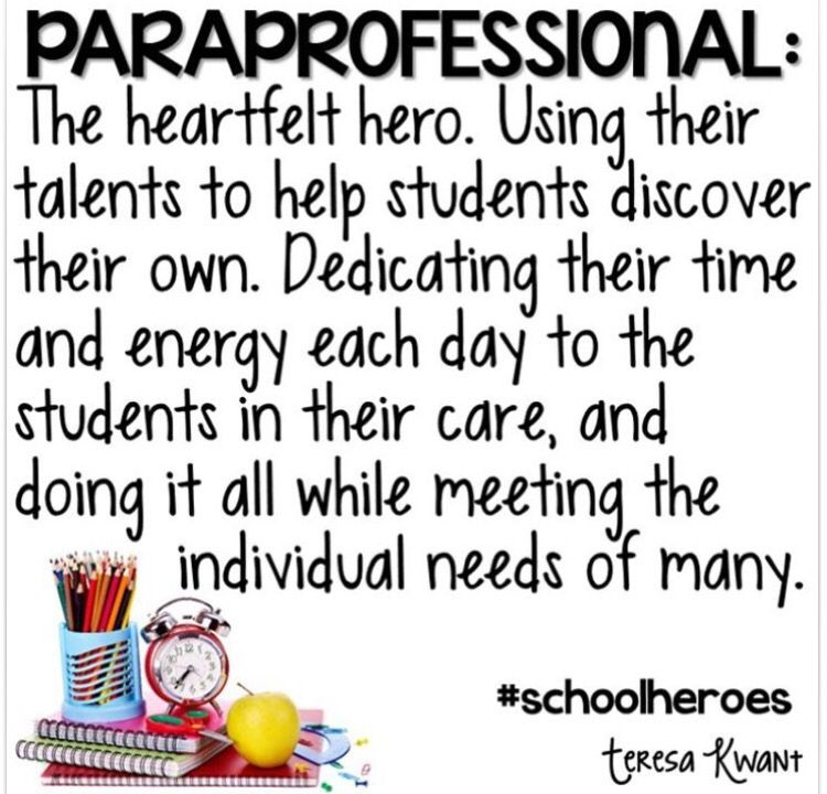 Paraprofessional Life My Special Classroom Pinterest