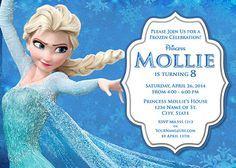 Elsa Frozen Birthday Party Invitation Ideas Wording