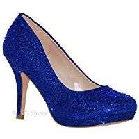 b67c524c0714 MVE Shoes Womens Stylish Sparkle Closed Toe Ankle Strap Dress Shoes ...