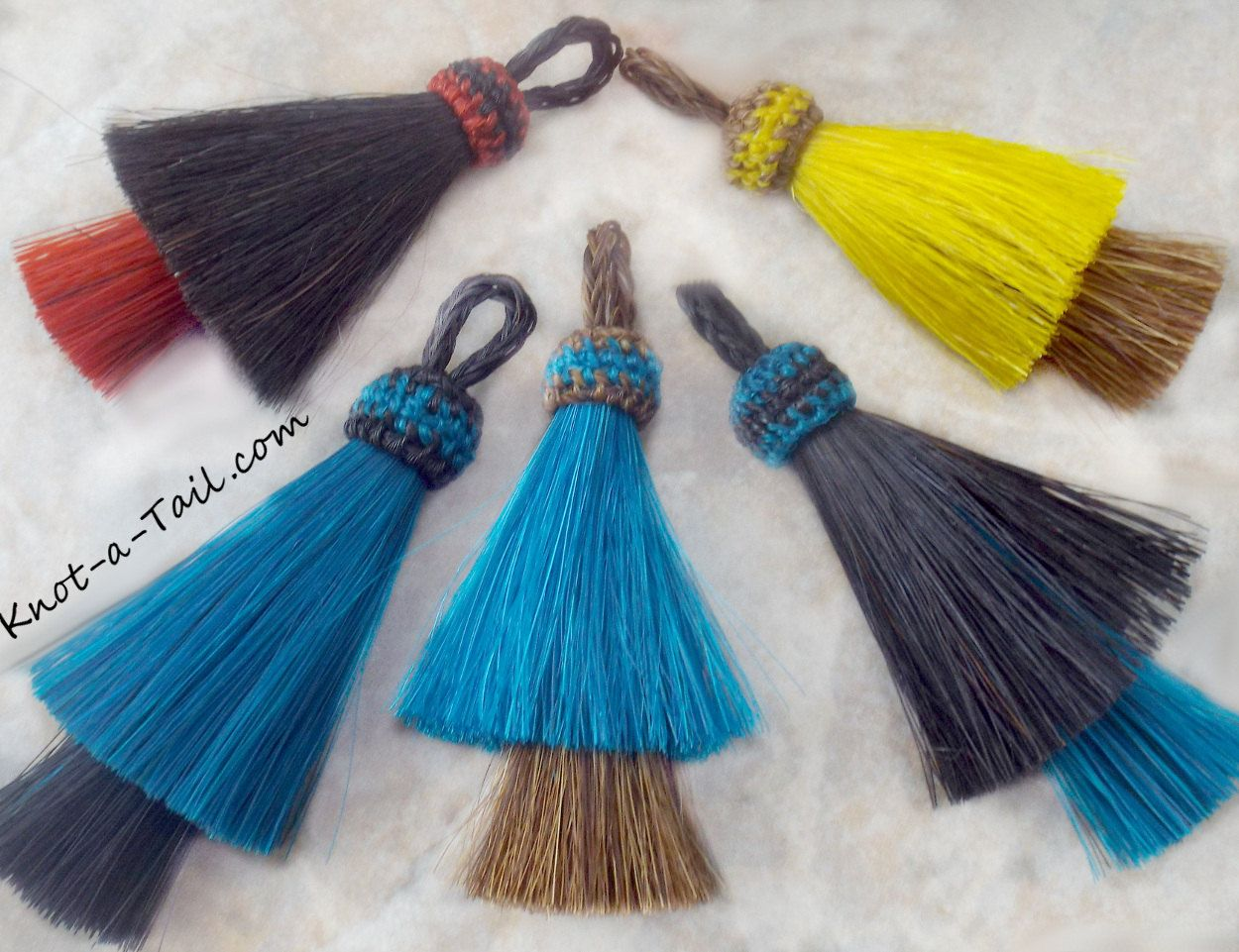 Horsehair Tassel Double Stacked Natural Or Color 3 Hot Selling