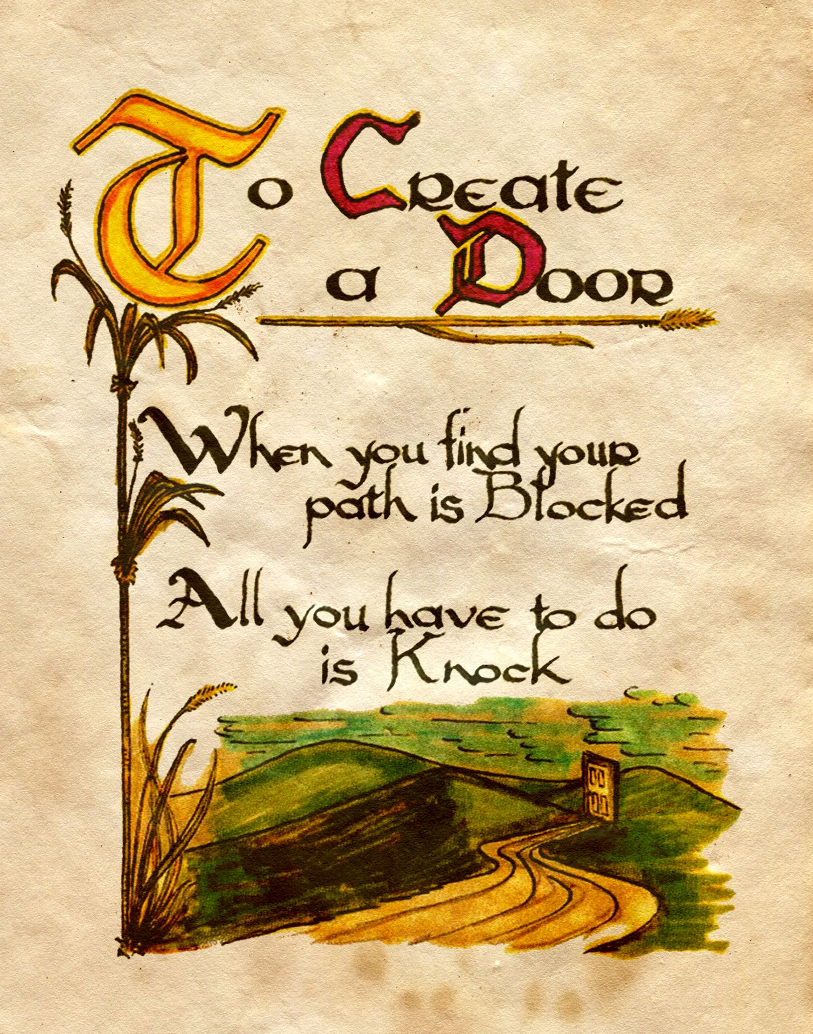 To create a door charmed book of shadows the