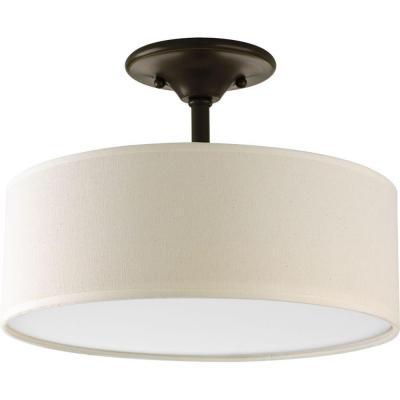 Progress Lighting Inspire 13 In 2 Light Antique Bronze Semi Flush