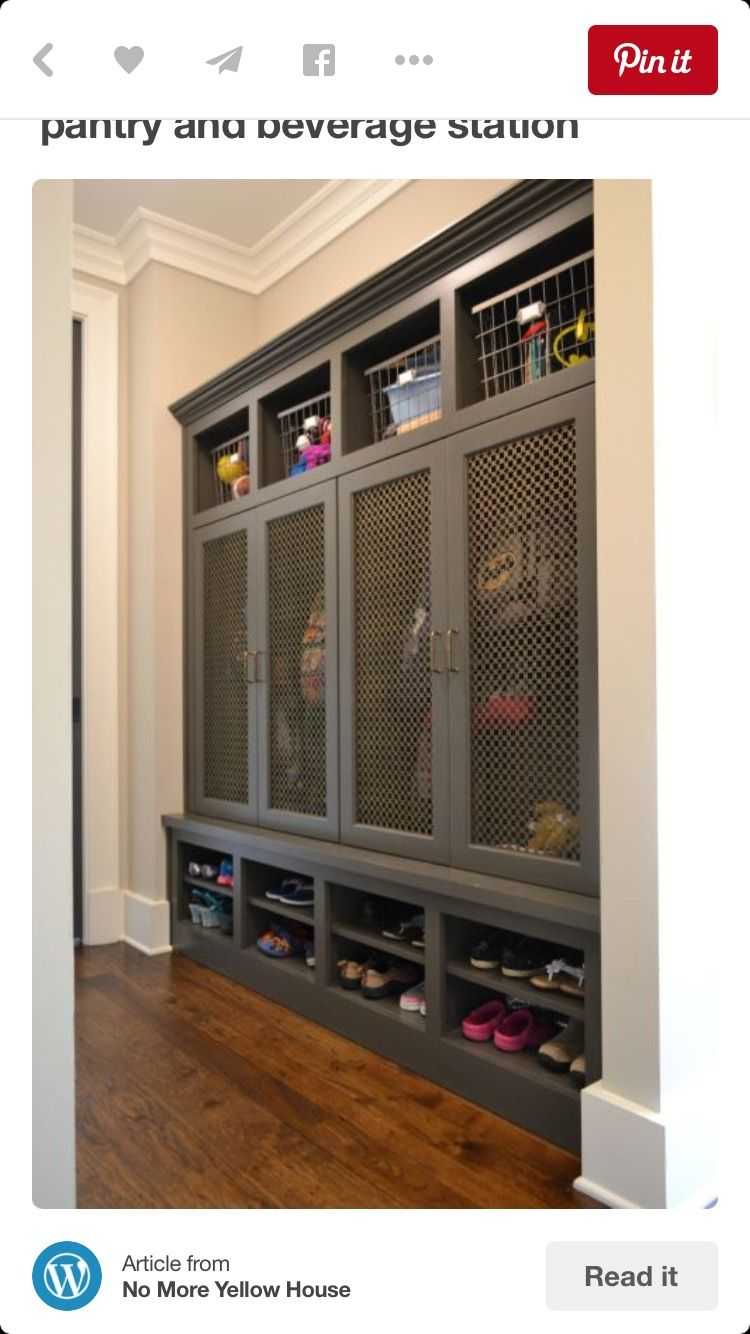 entryway storage locker furniture. Fantastic Mudroom Features Gray Built-in Lockers Boasting Cubbies Filled With Vintage Metal Locker Bins And Grill Mesh Doors On Over Stacked Entryway Storage Furniture U