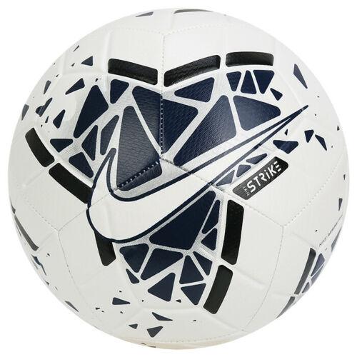 Nike Strike Football Soccer Ball White Blue Silver Logo Sc3639 104 In 2020 Soccer Ball Soccer Gym Ball