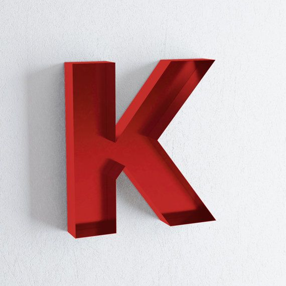 Wall Letters K Sign Letter  K Wall Decor  Metal Wall Letters