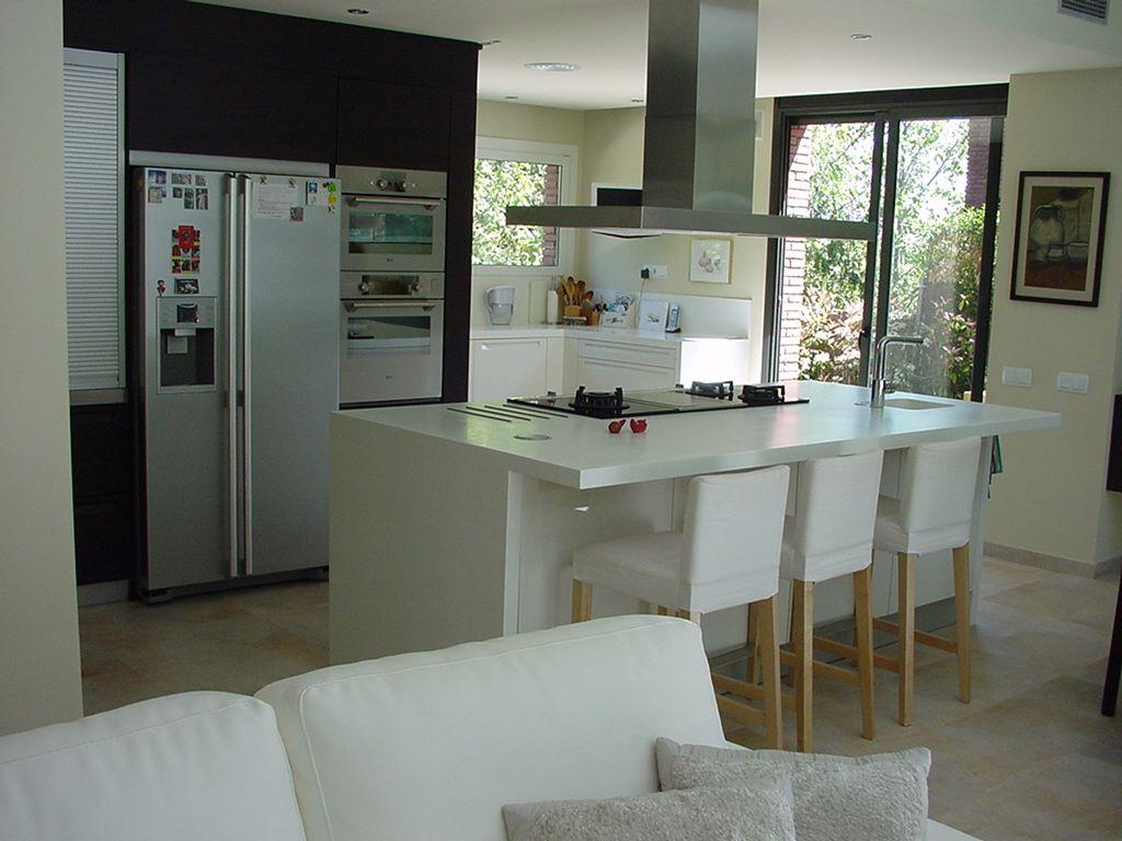Decoracion #Moderno #Cocina #Sillas #Encimeras #Puertas #Vidrio ...