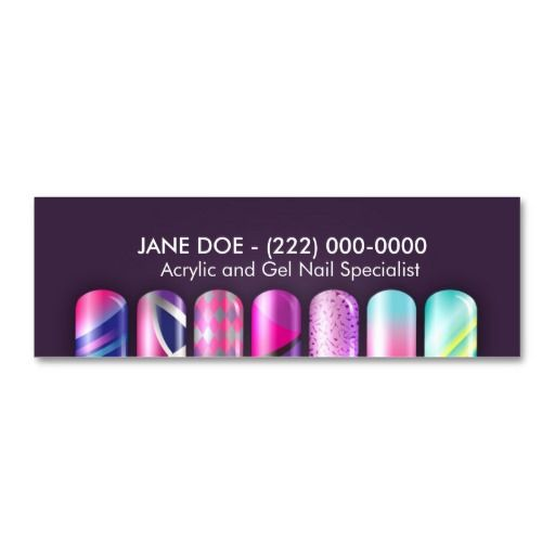 Nail salon nail tech manicure business card business cards nail acrylic nail specialist business appointment card business card reheart Images