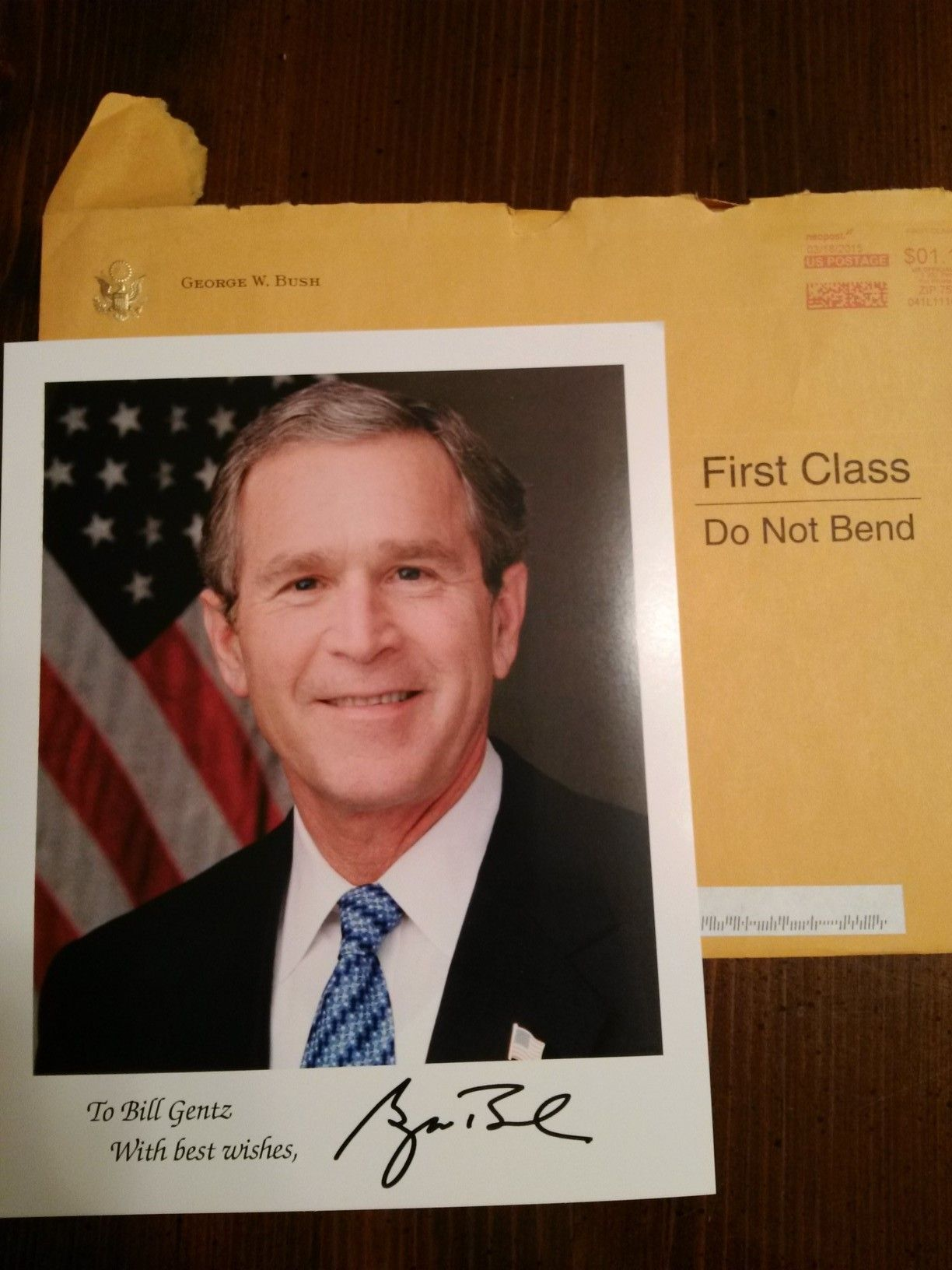 George W Bush Former President Of The United States Received In
