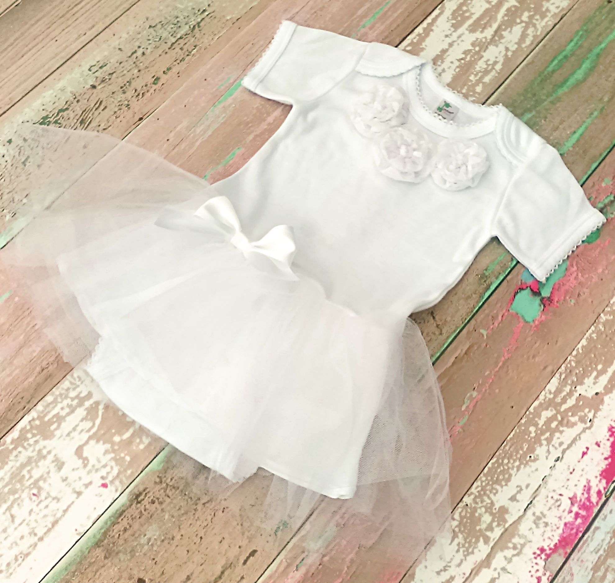 Christening Gown Baptism Dress for Baby Girl White Baby Dress