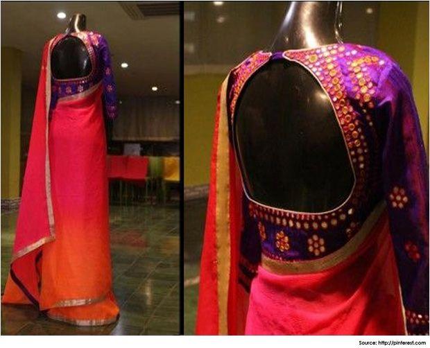 Stylish and Sexy Silk Saree Blouse Designs | Silk saree ...