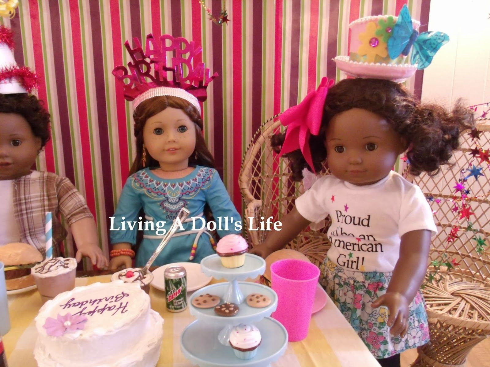 American Girl Dolls Bitty Twins and Saige 2013 Girl Of The Year.