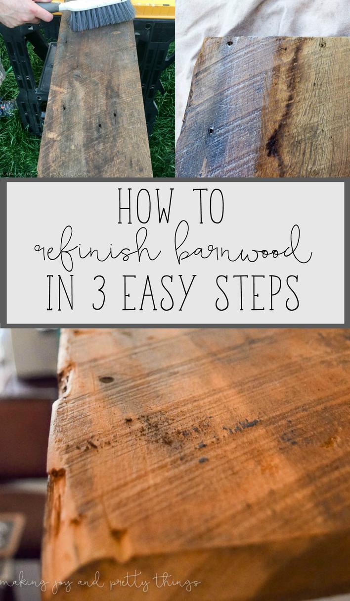 Photo of Reinigen und Nacharbeiten von Barnwood in 3 einfachen Schritten – Freude und hübsche Dinge machen