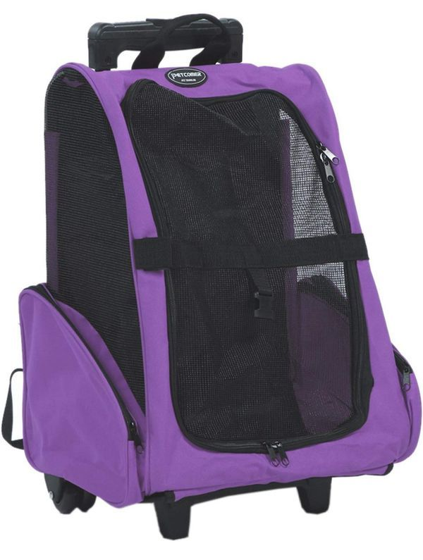 Pet Travel Carrier Backpack Trolley Bag with