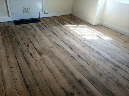 Original Pitch Pine Floorboardssanded And Sealed By Wood Floor